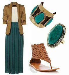Blazer + falda larga