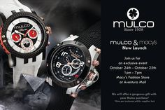We are officially launching Mulco in Macy's! Join us for this exclusive event on October 24th and 25th from 1pm-7pm at the Macy's Fashion Store in the Aventura Mall. Come by and receive a complimentary gift with purchase!