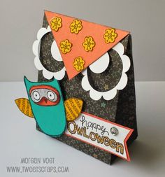 TweetScraps: August Stamp of the Month Blog Hop - What a Hoot! - Chalk it up, what a hoot