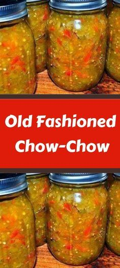 Canned Chow Chow Recipe, Old Fashioned Chow Chow Recipe, Relish Recipes, Canning Recipes, Salsa Recipe, Homemade Salsa, Homemade Dog Food, Cream Bread Recipe, Chow Chow Relish