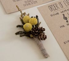 Found this boutonnière on Pinterest, but it was just decoration for the invitation.... https://www.etsy.com/listing/163081242/wedding-invitation-suite-deposit?ref=shop_home_feat_1