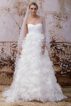 LOVE the skirt....  Monique Lhuillier Wedding Dress Collection FW 2014 - Bridal Musings Wedding Blog