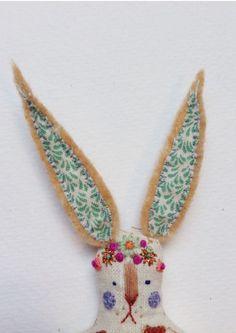 ♒ Enchanting Embroidery ♒  Rachel Ivy Griffiths | Bunny | meganivygriffiths.tumblr.com