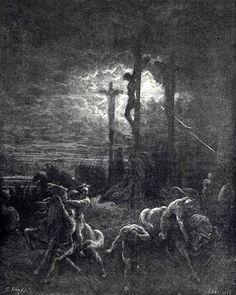 Paul Gustave Doré (1832 - 1888): The Crucifixion - Jesus dies
