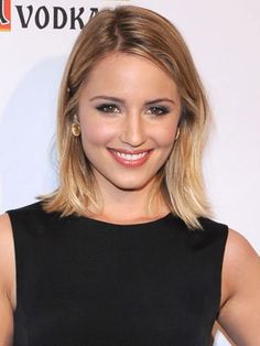 Dianna Agron has a phenomenal simple look, as she has cut her hair short so it just reaches her shoulders. Description from celebritstairs.net. I searched for this on bing.com/images