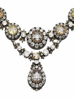 Mid-19th century diamond necklace, previously owned by Her Imperial Highness Princess Neslishah Abdelmoneim