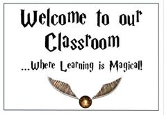 Harry Potter Theme Classroom Welcome by Learning the Wright Way Harry Potter Teachers, Harry Potter Classes, Harry Potter Classroom, Harry Potter Printables, Harry Potter Display, Harry Potter Decor, Harry Potter Quotes, Classroom Displays, Classroom Themes