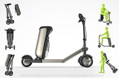 Backpack Electric Scooter on Behance