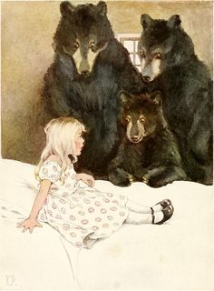 Goldilocks and the Three Bears -- Katharine Pyle -- Fairytale Illustration