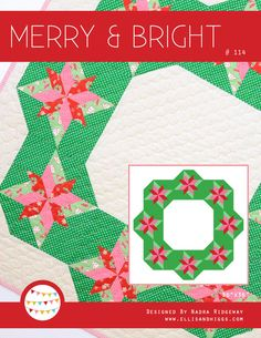 PDF Quilt Pattern  Merry & Bright by ellisandhiggs on Etsy