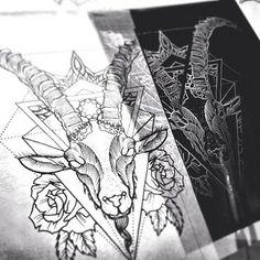 Project for today #capricorn #progress #tattoo