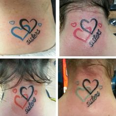 Sister heart tattoo