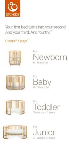 The unique, oval crib that grows with your baby –Stokke Sleepi Convertible Crib