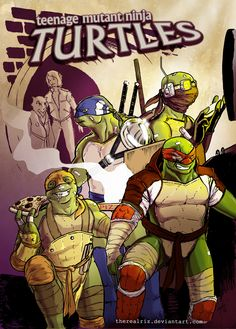 TMNT Turtles colored by *therealRIZ on deviantART