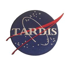 Doctor Who Tardis Blue Round Logo  Embroidered Iron On Patch #SA