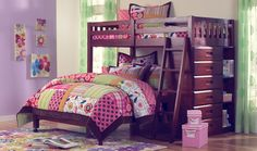 Twin Over Full Bunk Bed Loft - For more Awesome Bunk Bed Ideas take a look at HomeIZY.com!