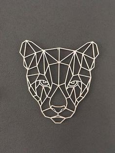 Wooden geometric animals for wall puma геометрия термопресс, геометрия y ги Geometric Drawing, Geometric Shapes, Geometric Animal, Animal Drawings, Art Drawings, Arte Linear, Polygon Art, Wooden Animals, 3d Prints
