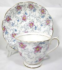 LOVELY ROYAL ALBERT PINK FLORAL CHINTZ KENDAL CUP & SAUCER