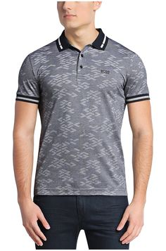 Shop designer clothes and accessories at Hugo Boss. Find the latest designer suits, clothing & accessories for men and women at the official Hugo Boss online store. Mens Polo T Shirts, Polo Tees, Mens Tees, Tee Shirts, Men's Polo, Mens Golf Wear, Hugo Boss, Polo Fashion, Cycling Outfit