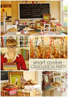 Smart Cookie Graduation Party- such a fun idea! meetmygrillfriend.com