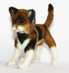 sweet Cat  needle felted miniature beautiful animal toys  handmade #1 | eBay