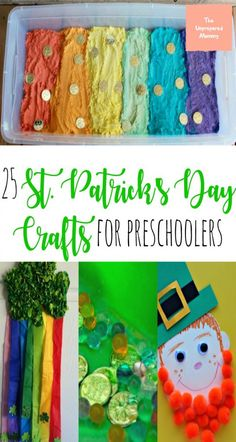 These 25 St. Patrick's Day crafts are great for toddlers and preschoolers to find their inner leprechaun! #stpatricksday #kids #crafts