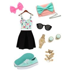 cute♡ sweet relajada♡ by s-ling-yevenes on Polyvore featuring polyvore, moda, style, Vans, Spring Street, Rolex, Warehouse and Mykita