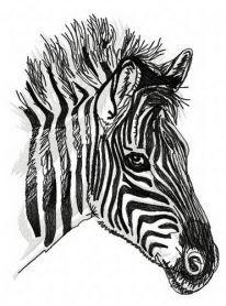Zebra 3 machine embroidery design