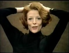 Maggie Smith, in a tv interview from the 70s.  I've often thought of the black turtleneck-with-black-pants as the unofficial 'actor's uniform.'