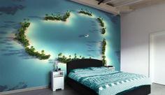 heart of the ocean bedroom  photo wallpaper / wall mural #mural #wallpaper #photowallpaper