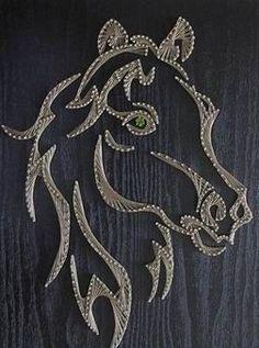 horse farm barn country race ride show custom string art