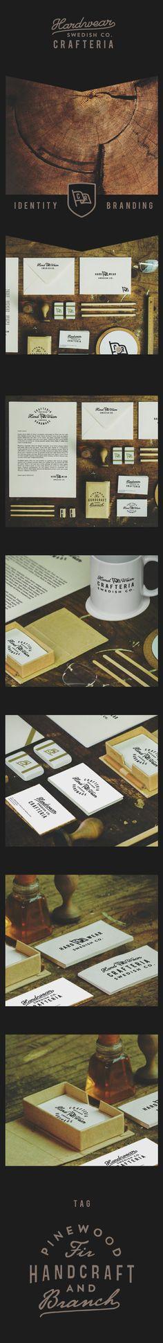 Hardwear Swedish Co. Crafteria branding | Authentic China Identity by Yohanes Raymond, via Behance | #stationary #corporate #design #corporatedesign #identity #branding #marketing < repinned by www.BlickeDeeler.de | Visit our website: www.blickedeeler.de/leistungen/corporate-design