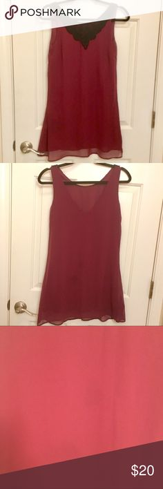 Forever 21 Chiffon Maroon Dress Gorgeous Forever 21 Chiffon Maroon Dress. Has been worn a few times. There is a slight water stain (hardly visible) but I put a picture of it as well. Trying to posh items in my closet which I hardly wear. Feel free to send me your best offer :-) Forever 21 Dresses Mini