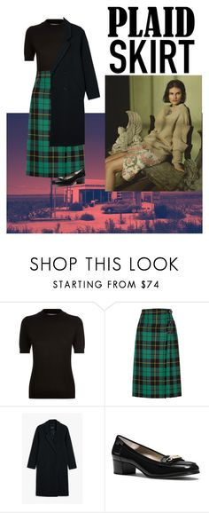 """""""plaid skirt"""" by daisy-giselle on Polyvore featuring Diane Von Furstenberg, Gucci, Monki and MICHAEL Michael Kors"""