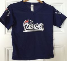 New England Patriots Workout Blue T-shirt Youth Size M NFL Team Apparel Franklin #Franklin #NewEnglandPatriots