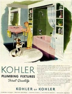 Kohler advertisement for pink fixtures!