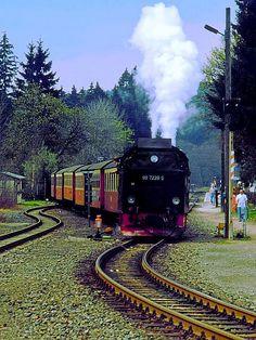 La stazione di Drei Annen Hohne -ferrovia dell'Harz