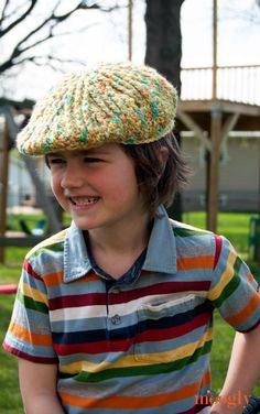 Moogly - Big Boys Cabled Golf Cap FREE pattern