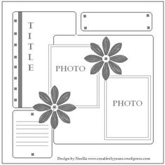 2 photo scrapbook layout examples