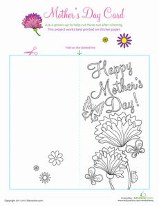 mother 39 s day color by number worksheets and craft activities. Black Bedroom Furniture Sets. Home Design Ideas