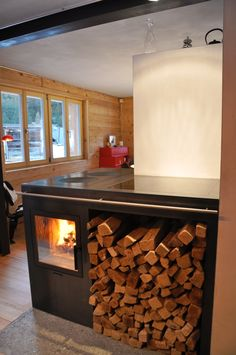 Ndorf Ofen www. Wood Burning Cook Stove, Wood Stove Cooking, Wood Burner, Firewood, Interior Inspiration, My House, Sweet Home, Fireplace Ideas, Kitchen