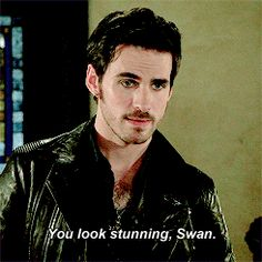 "Hook: ""You look stunning, Swan."" - 4*4 ""The Apprentice."" WHAT I WOULDN'T DO FOR SOMEONE TO SAY THAT TO ME"