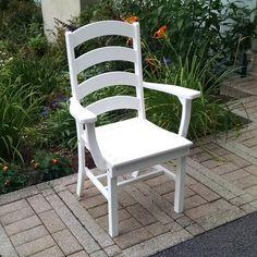Outdoor A & L Furniture Ladderback Poly 3 Piece Round Patio Bistro Set - ALF316-16