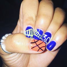 Golden state warriors decal nails Basketball Nails, Hoop Dreams, Beach Nails, Golden State Warriors, Nail Inspo, Nails Design, 5th Birthday, Cute Nails, Nail Ideas