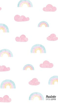 awesome Rainbow and clouds pastel iPhone wallpaper...: