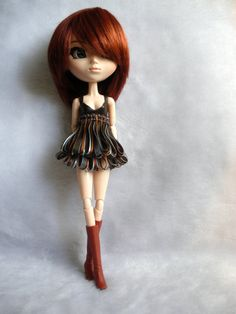 Monster high clothes. Blue and brown ribon outfit