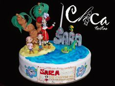 Torta de Jake y los Piratas del Nunca Jamas / Jake and the Neverland Pirates Cake