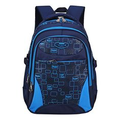 Creative Camouflage Blue Backpack Mens Backpack Travel Fashion Trends Junior High School Pupils