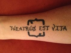 Theatre is life tattoo between comedy & tragedy tattoos. I would have it be auf Deutsch  #tattoo