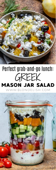 This greek mason jar salad recipe is Paleo, Whole30, and you can make it in just 15 minutes. Furthermore, it's perfect for lunch, dinner and meal prep.